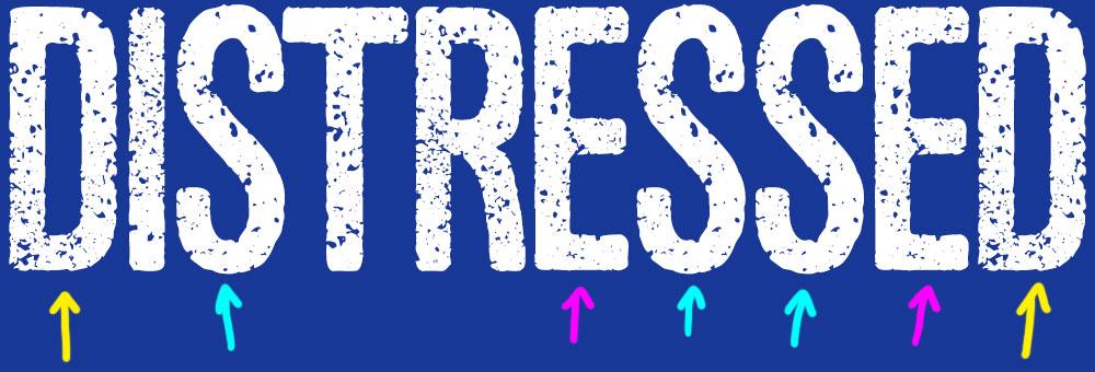 Distressing Fonts: pre-distressed font