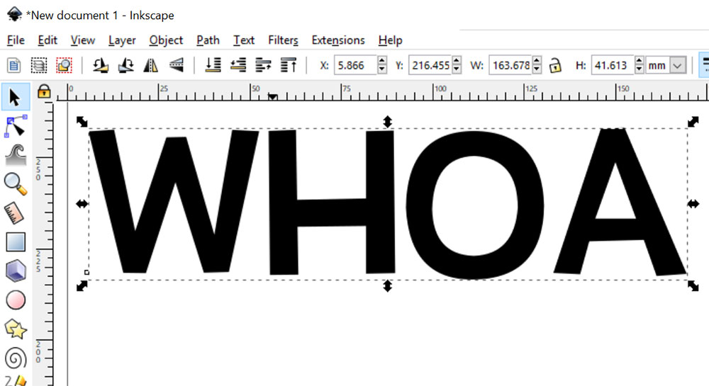 3-D Effect: type your text