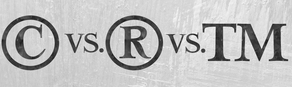 Copyright vs Registered Trademark vs Trademark