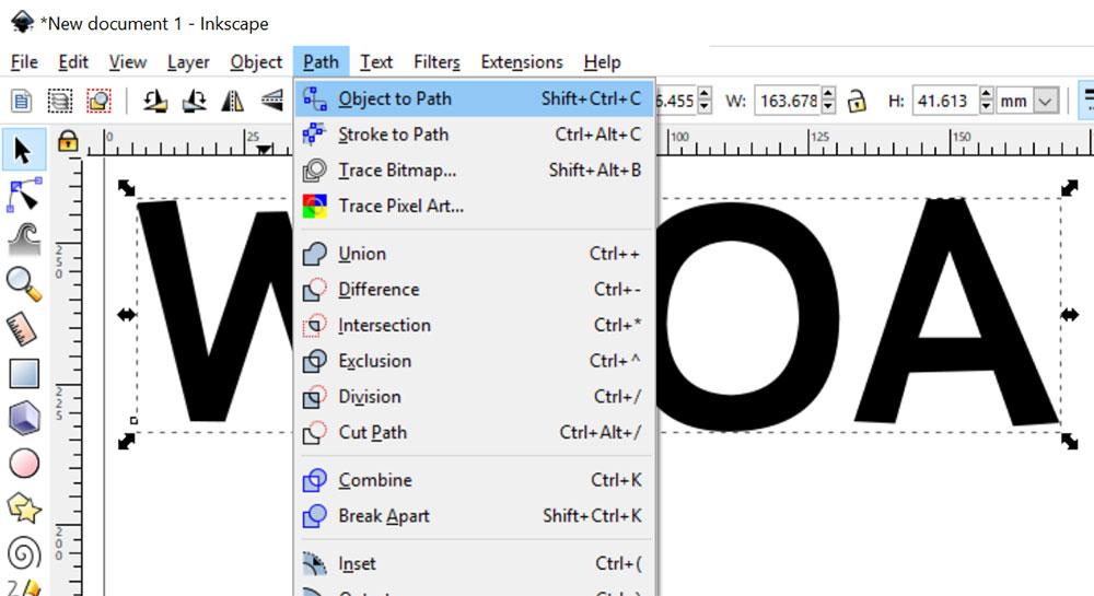 3-D Effect: convert text to path