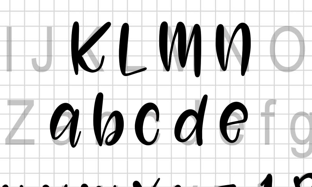 My process: creating the letters