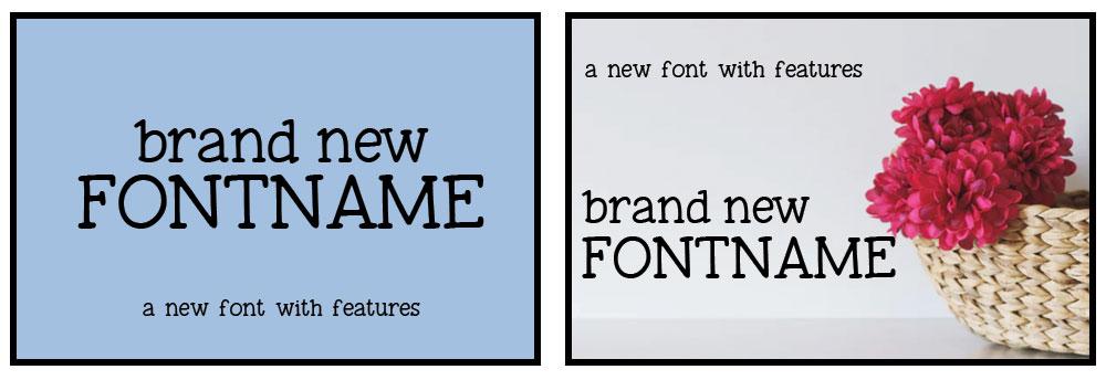 Advice for Designers: font main image comparison