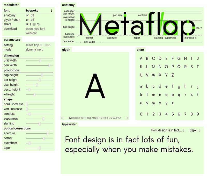 Metaflop: Main Dashboard