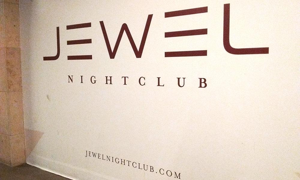 Vacation fonts: Jewel nightclub at Aria