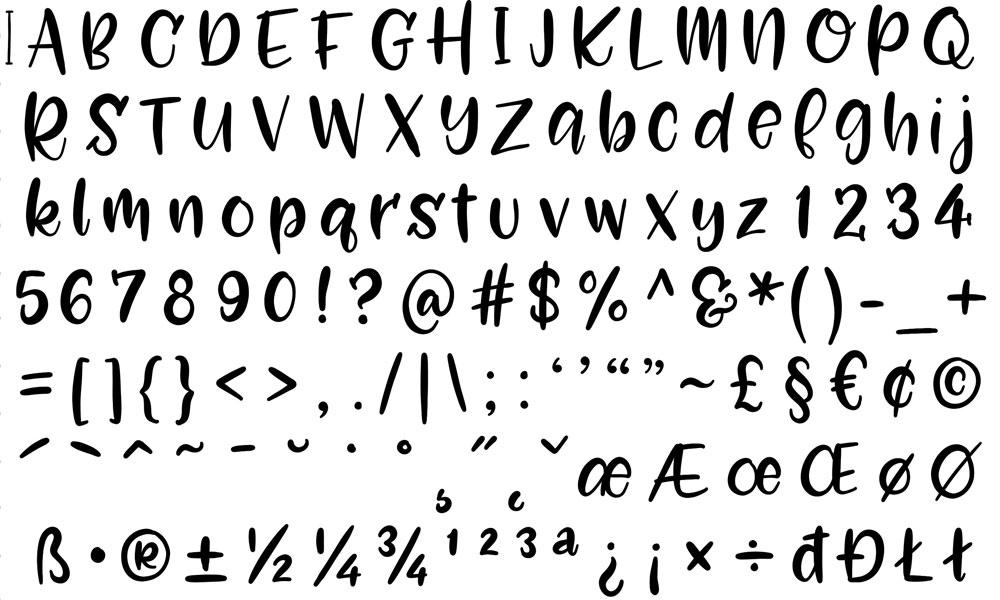 My process: the full basic alphabet