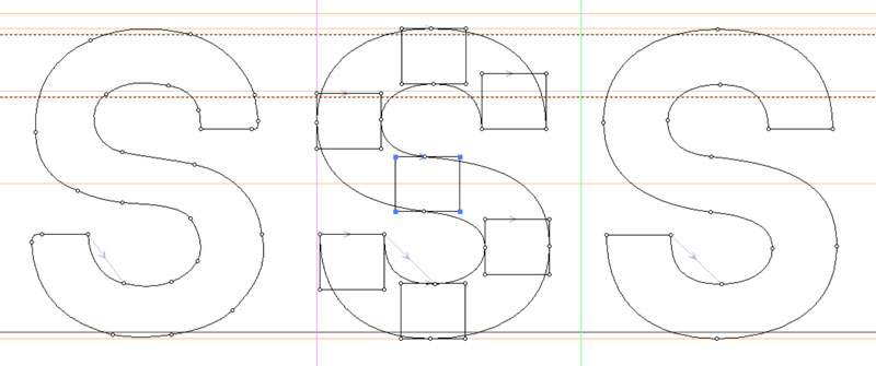 Refined Construction: rebuilding letter S