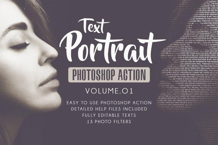 Text Portrait Photoshop Actions Vol.01 example image 1