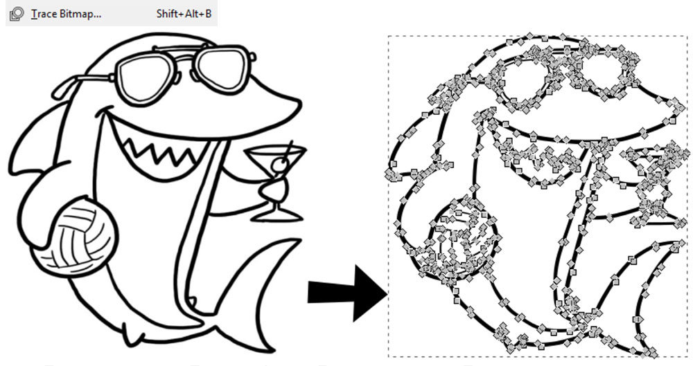 Inkscape Path Menu: Trace Bitmap