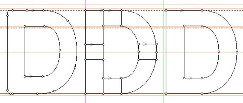 Refined Construction: rebuilding letter D