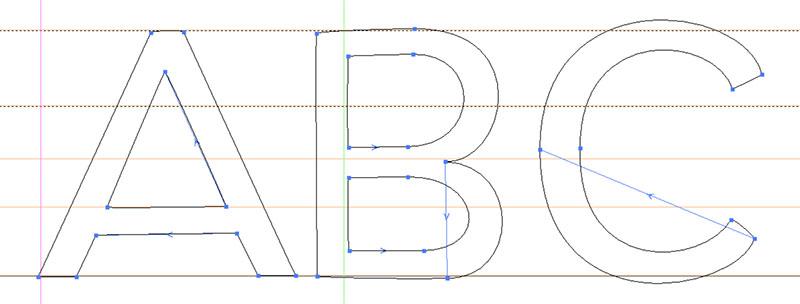 Creating sans: third version, squared-off sans