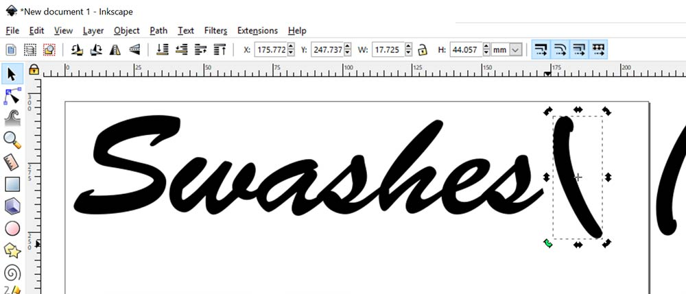 Swashes: rotate the parenthesis