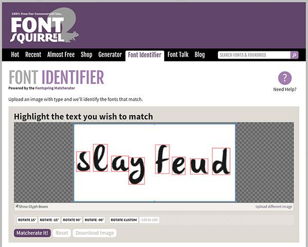 Mystery Font - matcherator