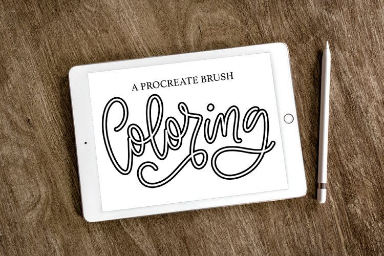 Procreate - Hollow Stacked Lettering Brush example image 1