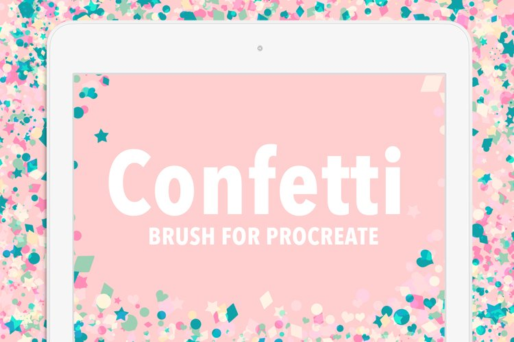Confetti brush for procreate example image 1