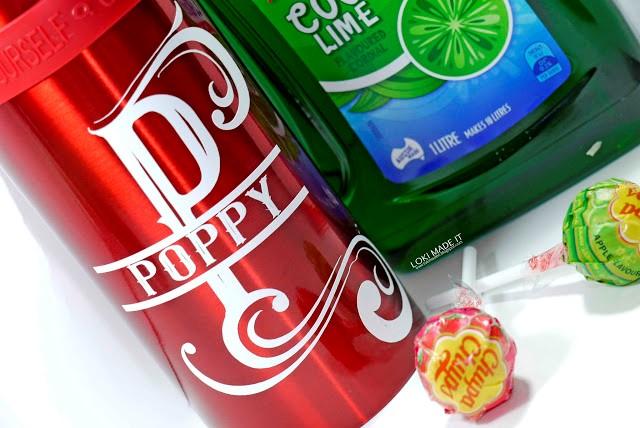 Split monogram drinks bottle