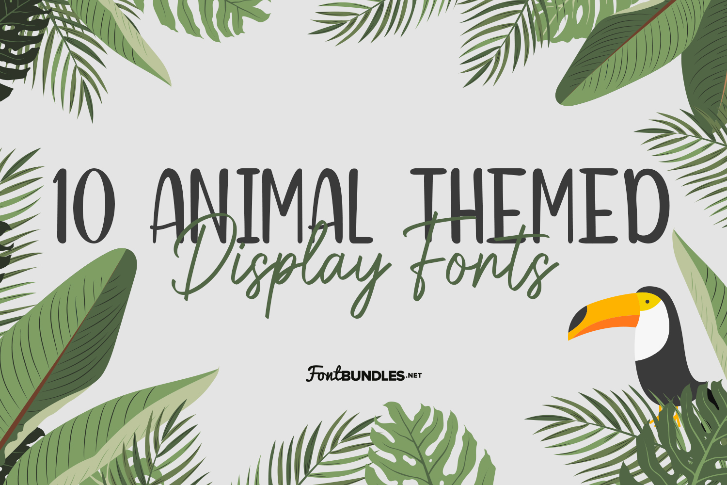 10 Animal Themed Display Fonts Preview
