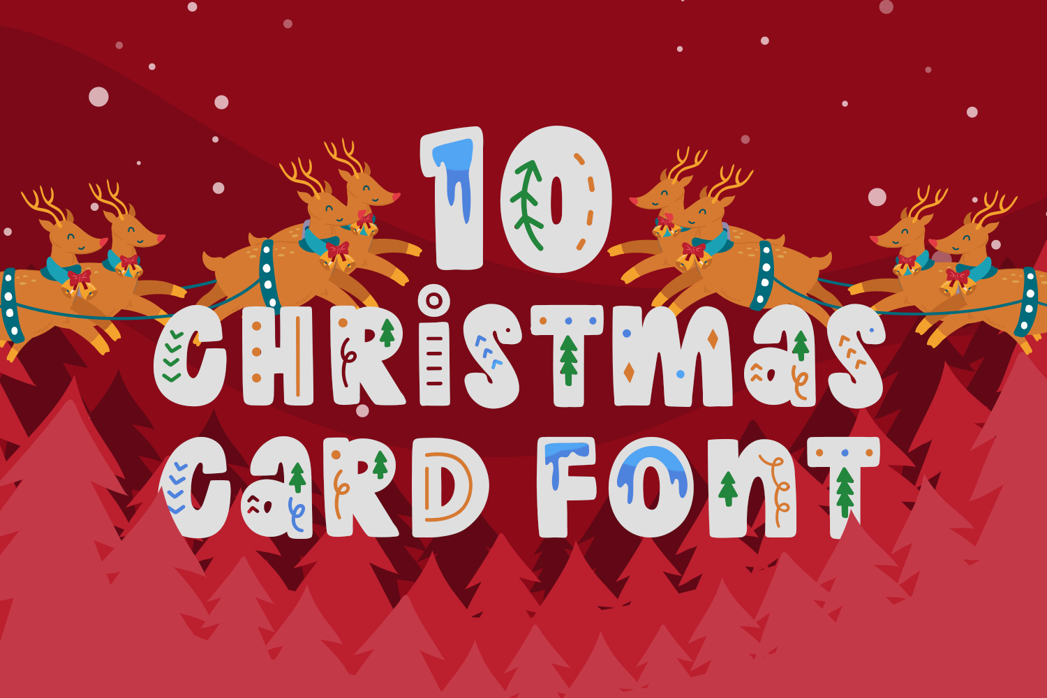 10 Christmas Card Fonts Preview