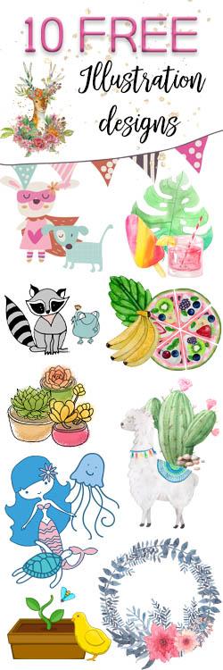 10 Free Illustration design files