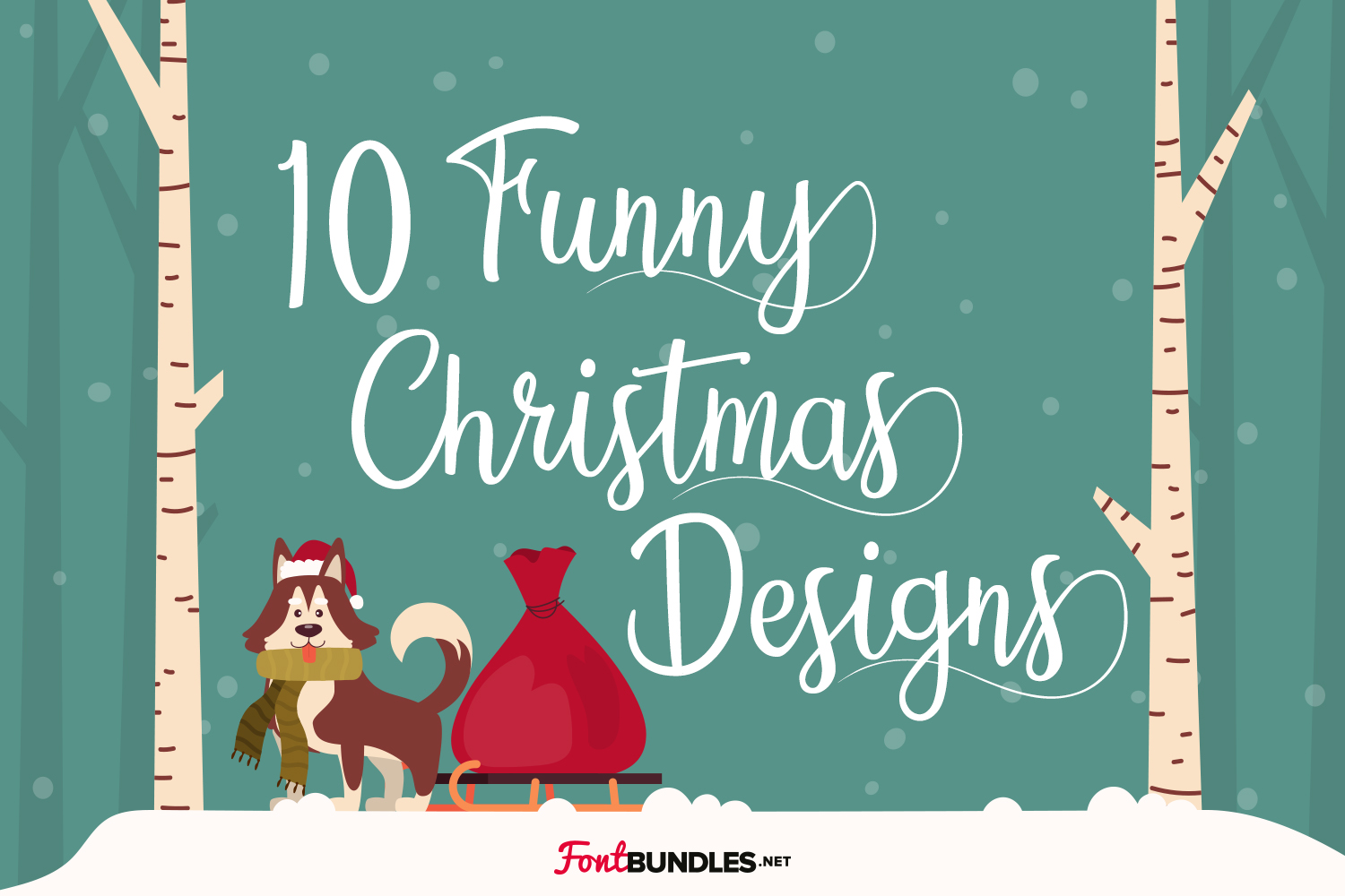 10 Funny Christmas Designs Preview