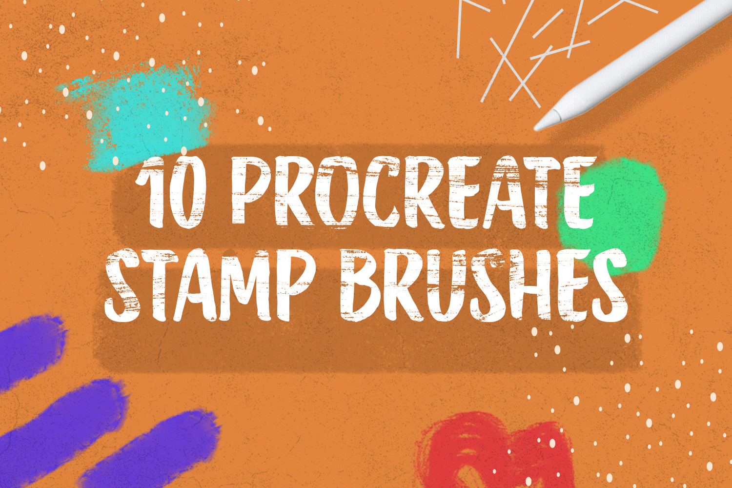 10 Procreate Stamp Brushes Preview
