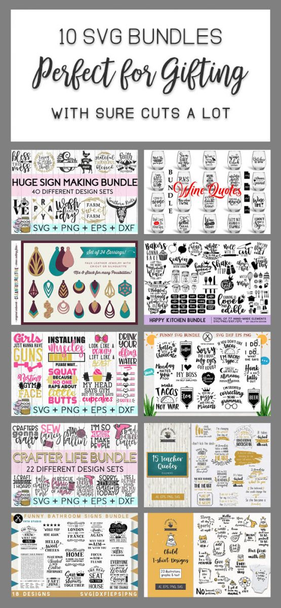 10 SVG bundles perfect for making gifts