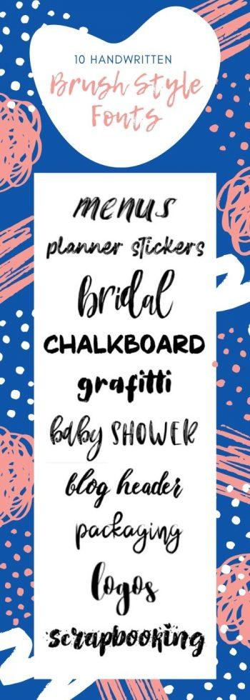 10 handwritten brush fonts