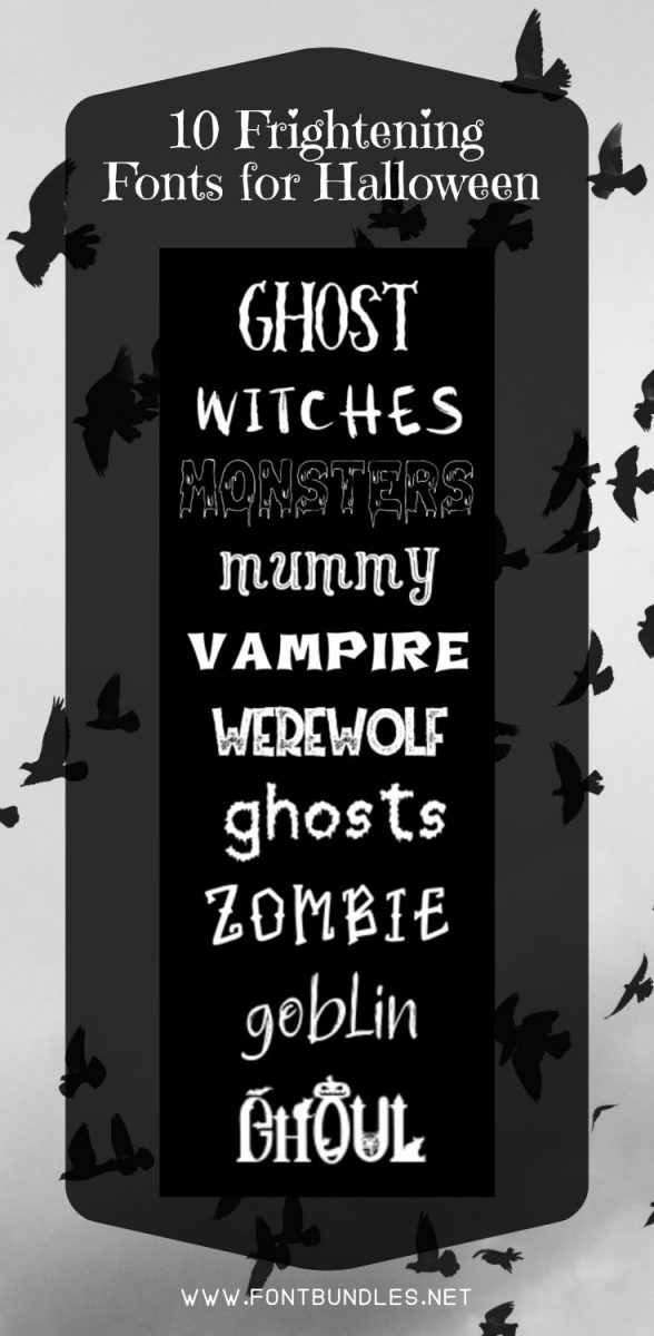 10 Frightening Fonts for Halloween