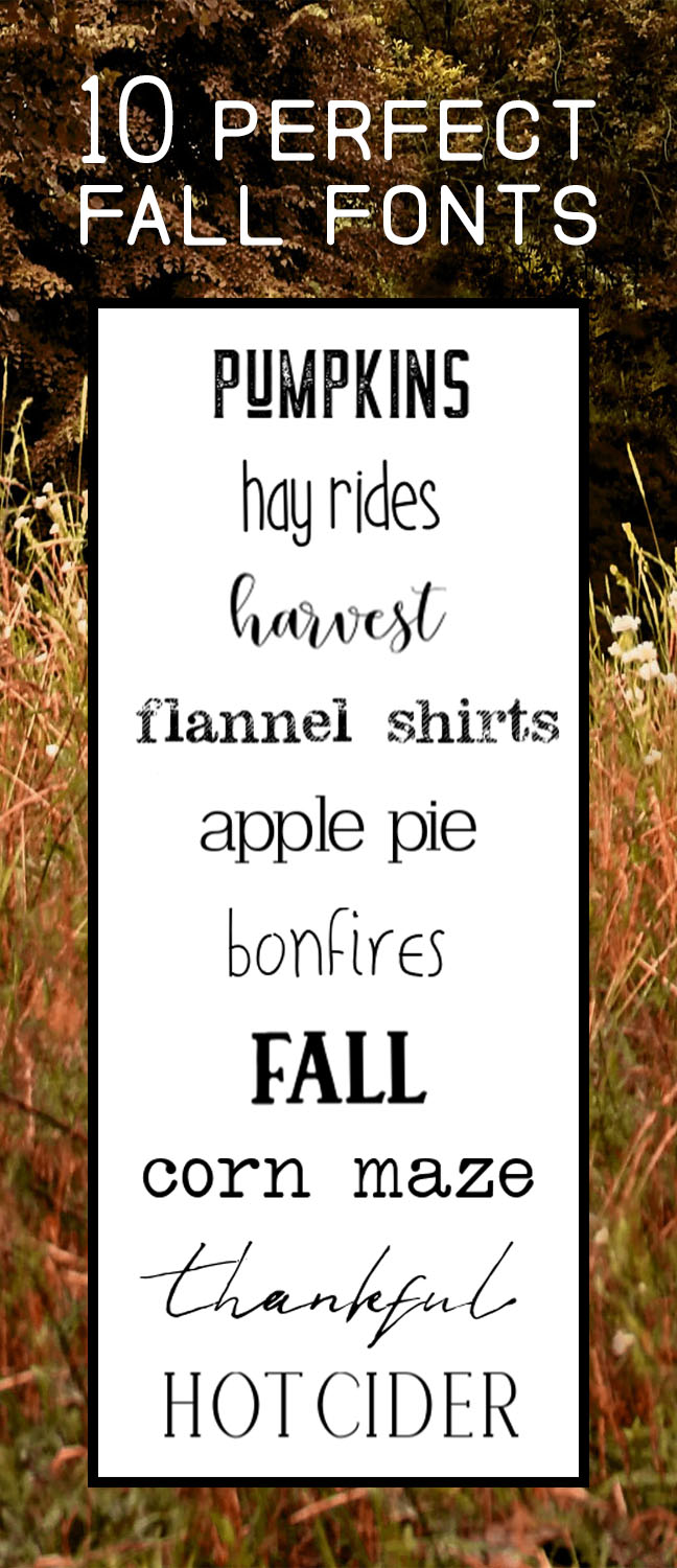 Ten perfect fonts for fall projects