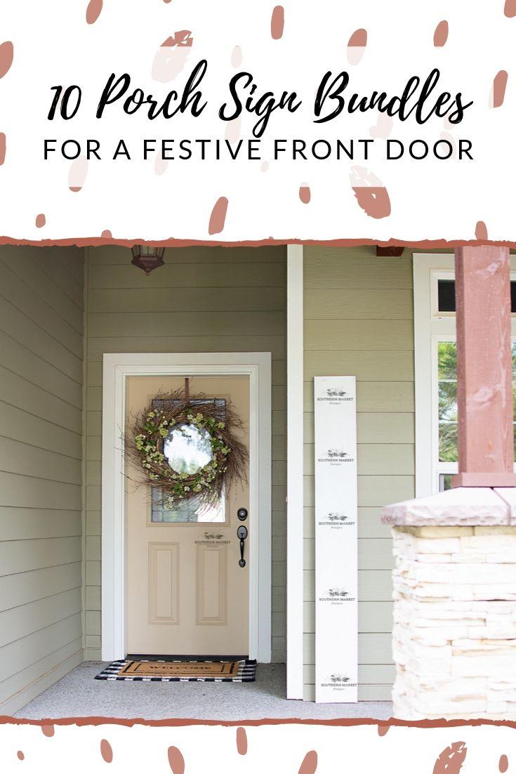 10 Porch Sign Bundles for a Festive Front Door