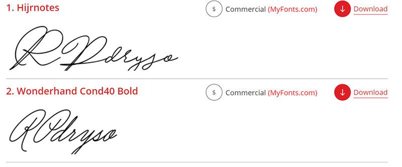 Advanced Font ID: successful results