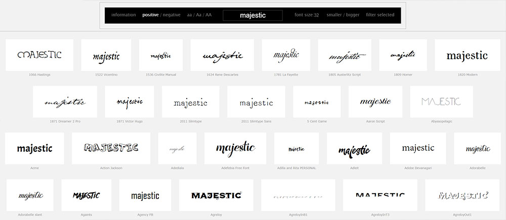 Managing Fonts: Wordmark.It