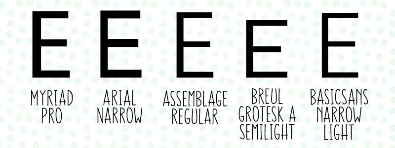 Advanced Font ID: Every E looks the same