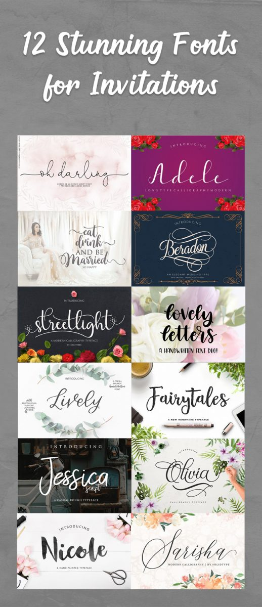 12 stunning fonts that will make your invitations wow