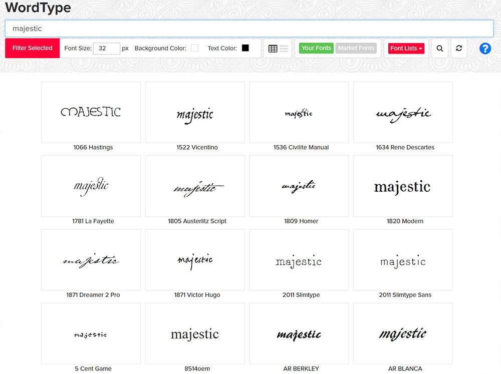 Managing Fonts: WordType