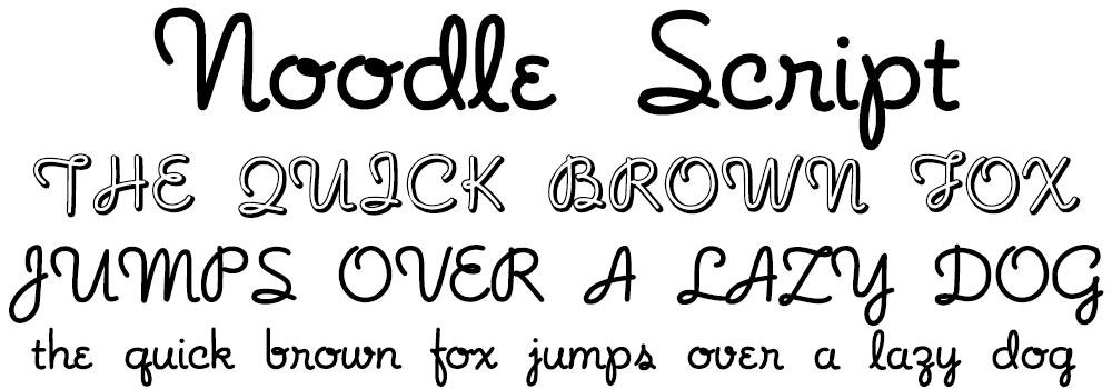 Rare Freebies: Noodle Script