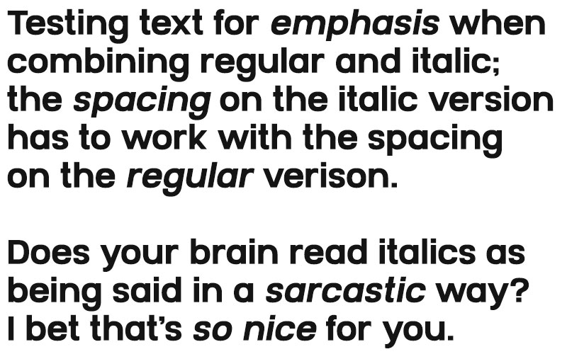 Spacing and Kerning: testing regular and italic together