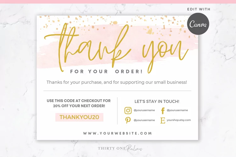 15 Timeless Thank You Card Templates 9