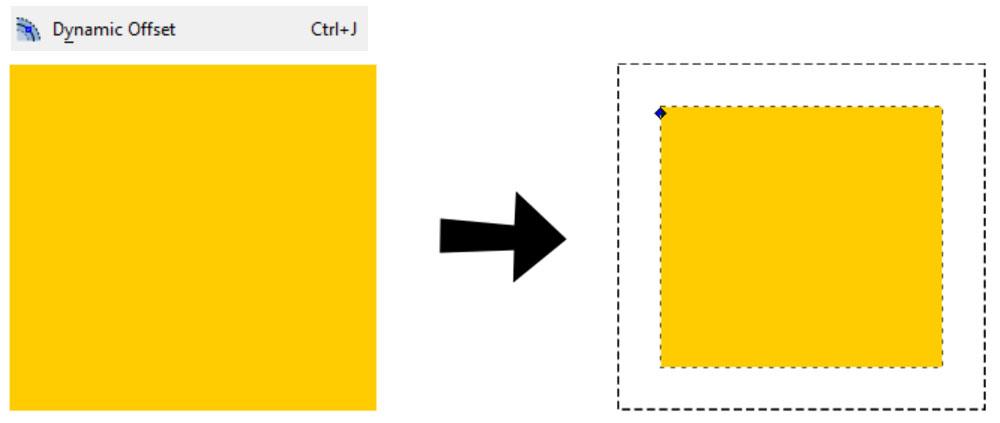 Inkscape Path Menu: Dynamic Offset