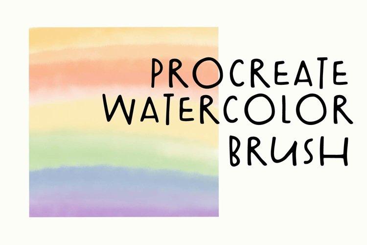 Procreate Watercolor Brush - Real Watercolor Look! example image 1