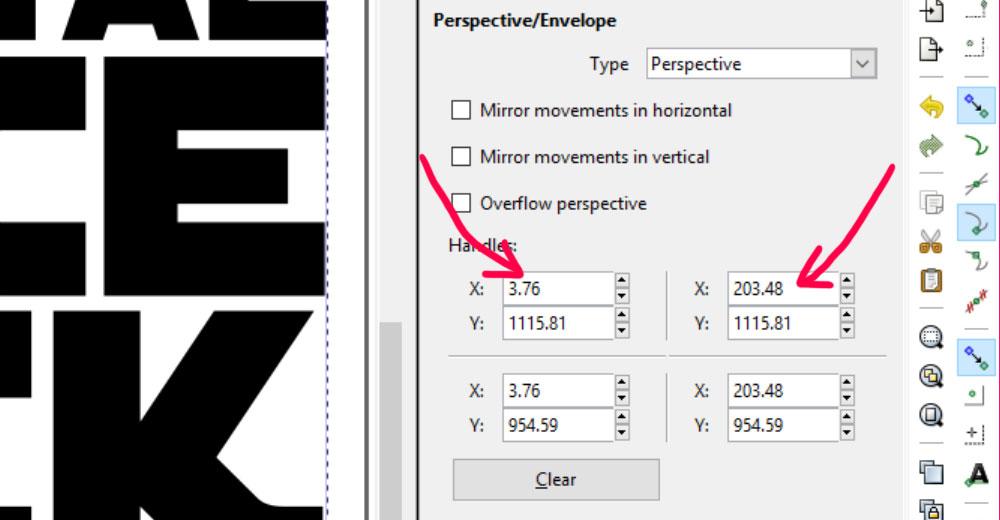 Perspective: adjust X axis