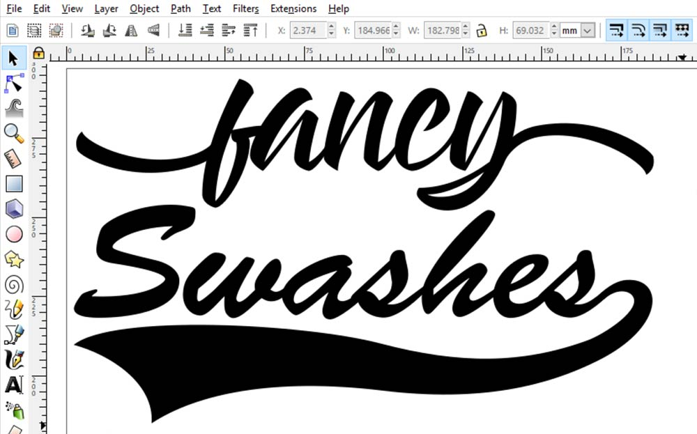 Swashes: both final designs