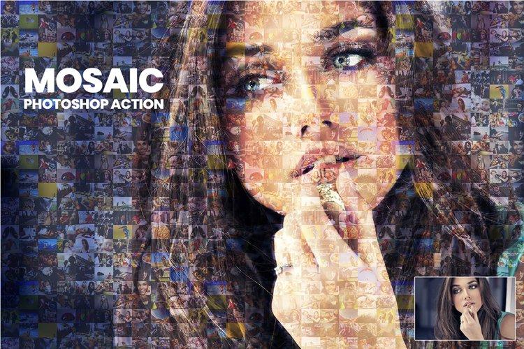 Mosaic Photoshop Action example image 1