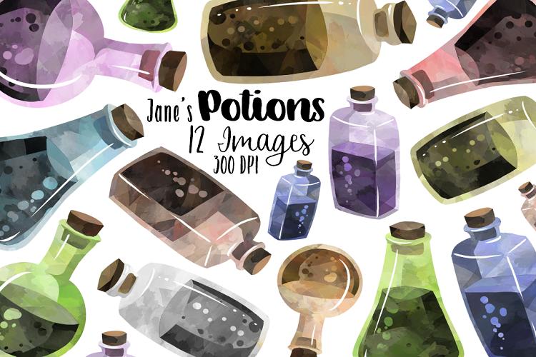 Potion Bottle Watercolour Graphics