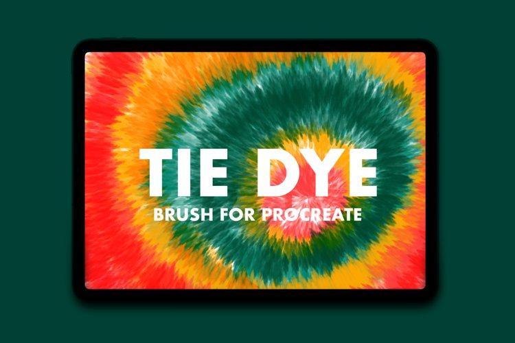 Procreate Tie Dye Brush example image 1