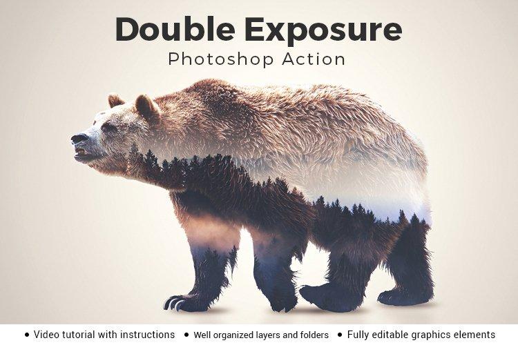 Double Exposure V1 Photoshop Action example image 1