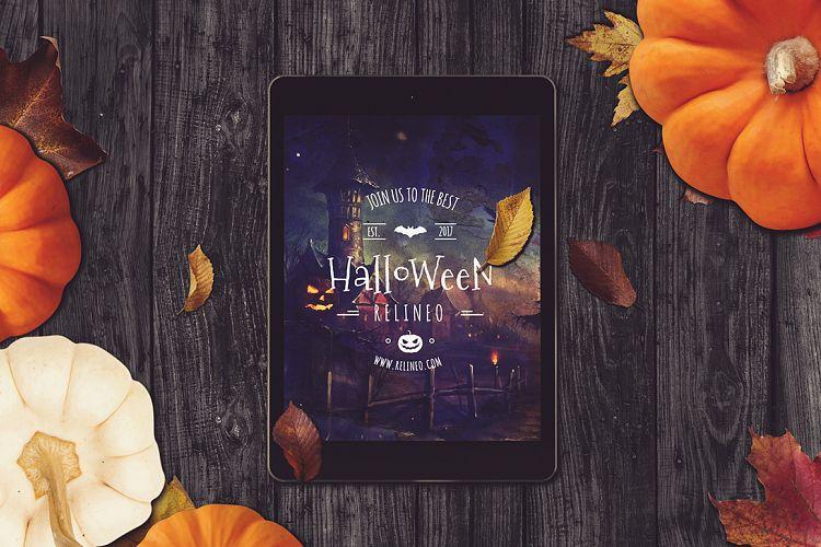 iPad Halloween invite by Relineo