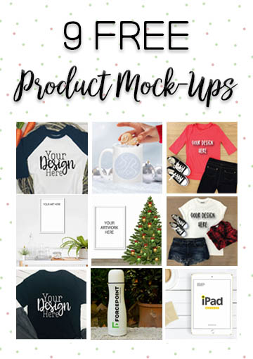 9 Free Product Mock-Ups