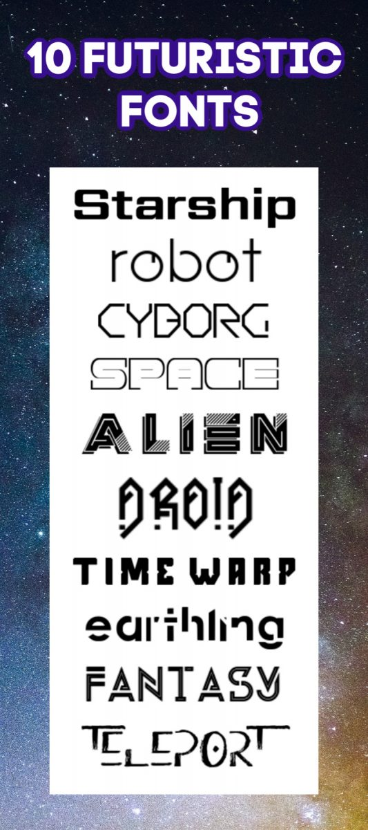 10 Futuristic Fonts Science Fiction Fonts