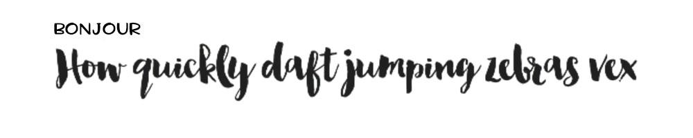 Hot Fonts Spring 2017: Bonjour
