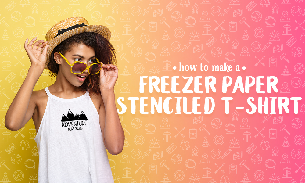 How to Make a Freezer Paper Stenciled T-Shirt Banner